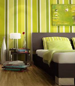 bedroom decorating ideas green paint and wallpaper With bedroom paint and wallpaper ideas