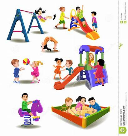 Playground Clipart Children Recess Outside Background Cliparts