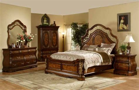 mollai collection pc bedroom set  cherry finish