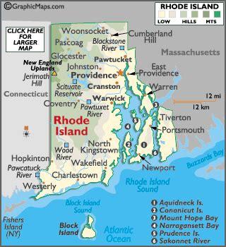 map  rhode island rhode island map providence facts