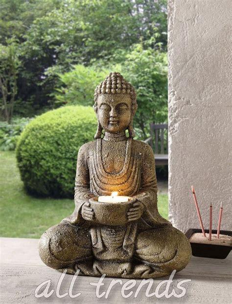 buddha für garten buddha kerzenhalter dekofigur feng shui asia buddismus