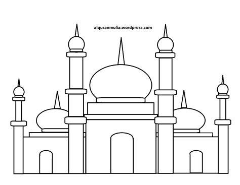 Buy Mewarnai Gambar Masjid Contoh Gambar Mewarnai Print