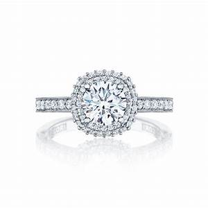 Tacori engagement rings blooming beauties halo setting 061ctw for Wedding rings tacori