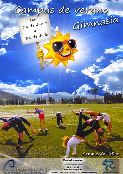 campus de verano gimnasia servicio de deportes