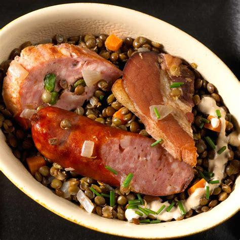 la cuisine du terroir assiette du terroir lentilles à la vinaigrette crémée une recette terroir cuisine le