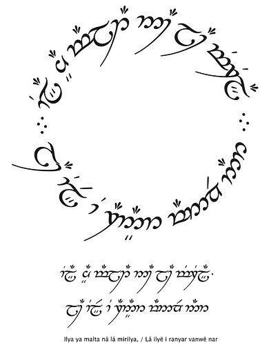 not all who wander are lost elvish circle - Google Search