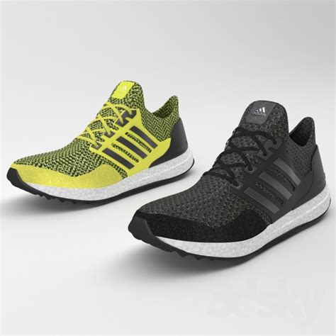 3d models clothes and shoes adidas ultra boost running shoes