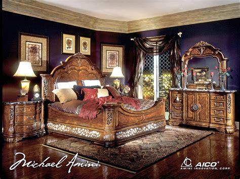 michael amini bedroom suites michael amini excelsior bedroom furniture fruitwood finish