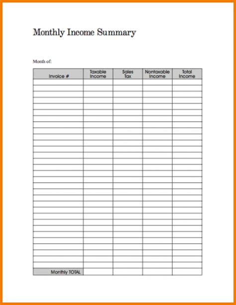 expense summary monthly bills expense report expense report Monthly