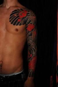 29 Magnificent Koi Sleeve Tattoos Designs