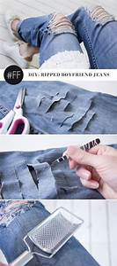 DIY Ripped Jeans How to make Ripped Jeans Tutorial and ...