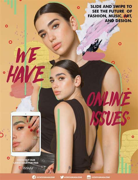 DUA LIPA in Status Magazine, July 2017 Issue