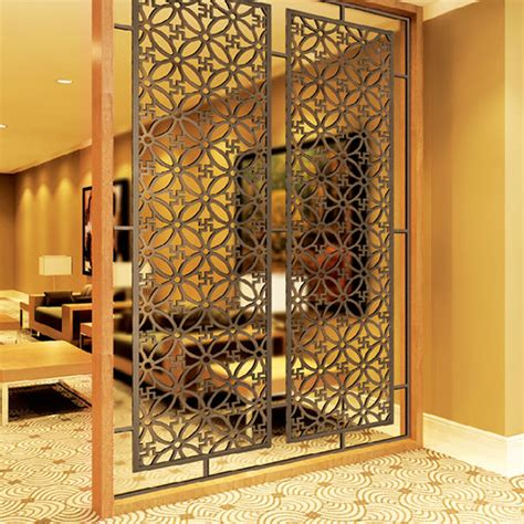 new design chinese laser cut stainless steel metal decorative room partitions privacy screens