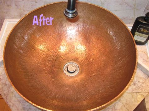 how to clean a copper sink cleaning my copper sink before after photos contest