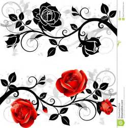 ornament with roses stock vector image of leaf decorative 21372420