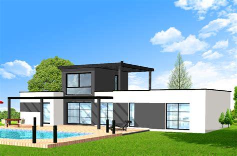plan maison bois plain pied 4 chambres maison 200m2 top maison