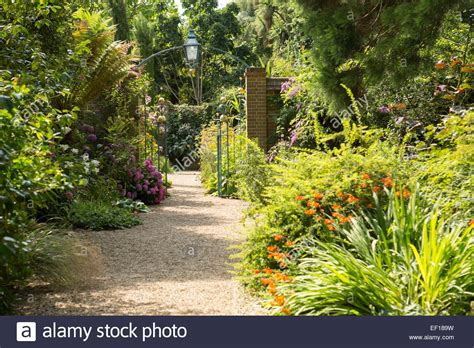 Shingle path through East Ruston Old Vicarage Gardens