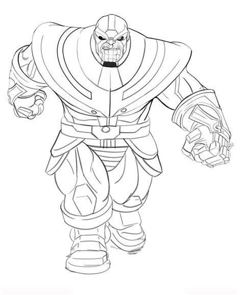 thanos running coloring page free printable coloring
