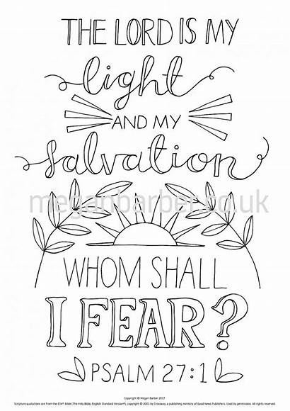 Psalm Coloring Bible Verse Simple Colouring Sheet