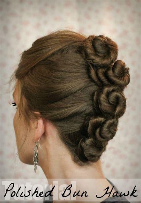 life  hair tutorial  polished bun hawk