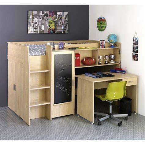 bureau ado avec rangement lit mezzanine ado avec bureau et rangement uteyo
