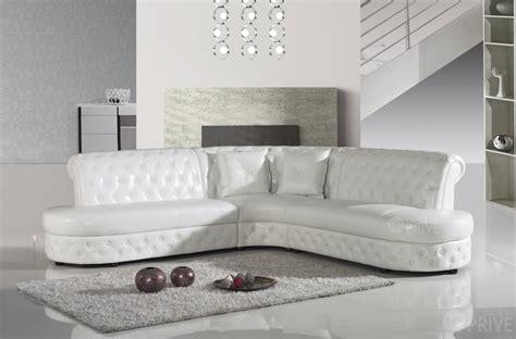 canape cuir angle blanc canape canapé cuir salon cuir mobilier privé