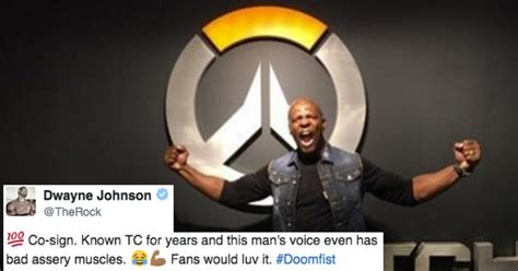 even the rock wants terry crews to voice overwatch character doomfist memebase memes