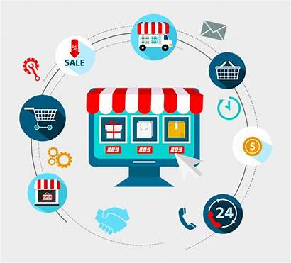 Commerce Internet Development Icono Compras Por Ecommerce