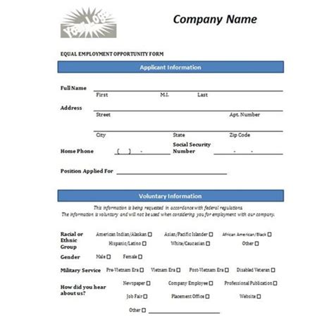 printable job application form template form generic