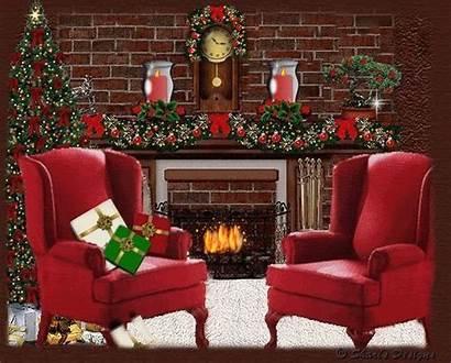 Chimeneas Navidad Calor Decorar Fiestas Dar