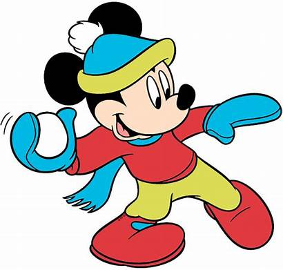 Winter Mickey Clip Season Disneyclips Mouse Disney