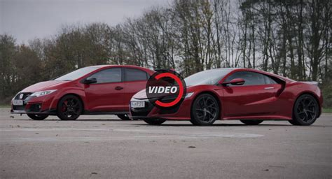 Can The Honda Civic Type R Outrun The Nsx With A 5-sec