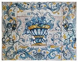 amazon com handpainted italian ceramic 29 5 inch wall