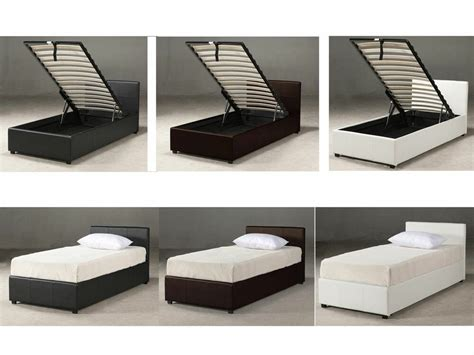 Storage Bed Ottoman by 3ft Single Ottoman Storage Bed Black Brown White With