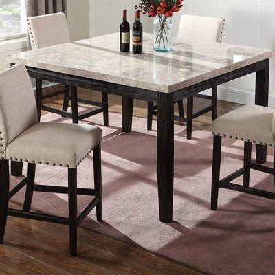 high marble kitchen table marble kitchen dining tables you ll wayfair