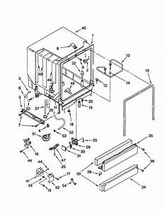Kenmore Elite Dishwasher 665 Parts Diagram