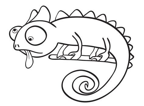 ausmalbild tiere chamaeleon kostenlos ausdrucken