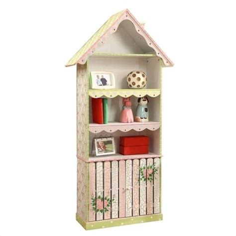 Fantasy Fields Hand Painted Crackled Rose Bookshelf W6927a