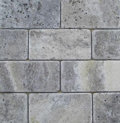 travertine subway tile travertine machiatto silver tumbled 3x6 subway tile