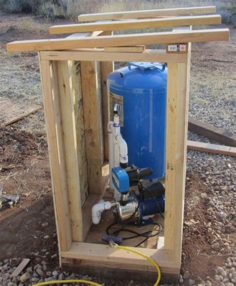build  pump house shed small woodworking