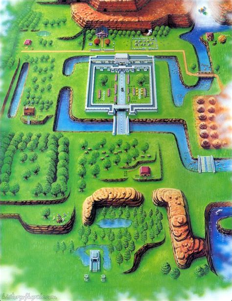 hyrule map from the legend of zelda a link to the past