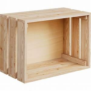 Caisse En Bois : caisse monter home box pin x x cm ~ Nature-et-papiers.com Idées de Décoration