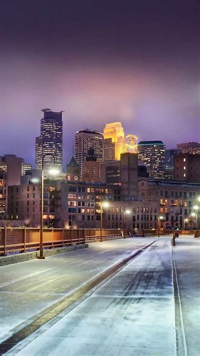 Minnesota Iphone Wallpapers Winter Street Lights Backgrounds