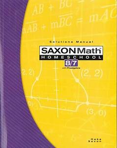 Best Price On Saxon Math 8  7 Solutions Manual  Same Day