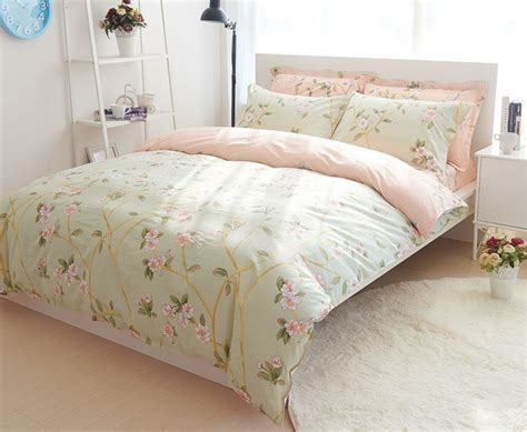 green shabby chic bedding green duvet quilt cover bedding set queen french country cottage shabby chic ebay