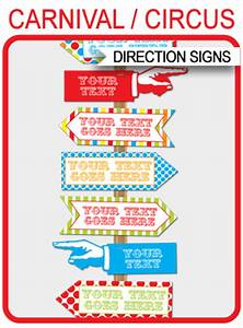 Cooking Party Invitations Carnival Directional Signs Arrows Carnival Party