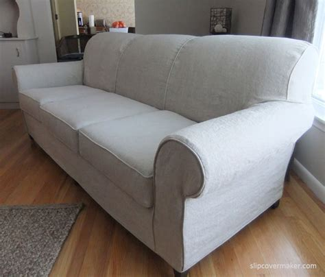 custom made sofa slipcovers heavyweight linen slipcover custom made for a sherrill