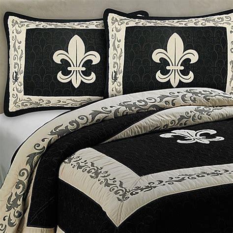 decke bedding buy donna sharp fleur de lis scroll full queen quilt from