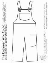 Overalls Coloring Engineer Pages Crayons Pair Children Colored Using Activities Markers Pencils Print Craft Engineering Museum Copy January Patchwork Quiltstudy sketch template