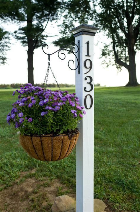 house number sign for l post 33 best creative house number ideas and designs for 2018